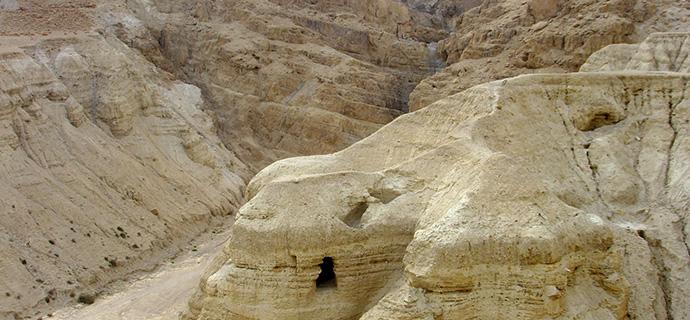 In elf Felshöhlen in Qumran am Toten Meer wurden nach 1947 tausende von altjüdischen Handschriften entdeckt.